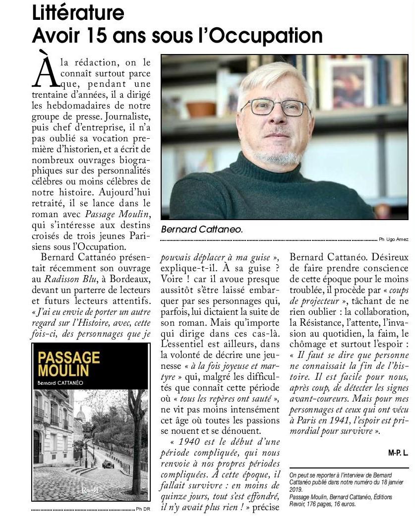 Passage Moulin_Bernard Cattanéo_Courrier de gironde